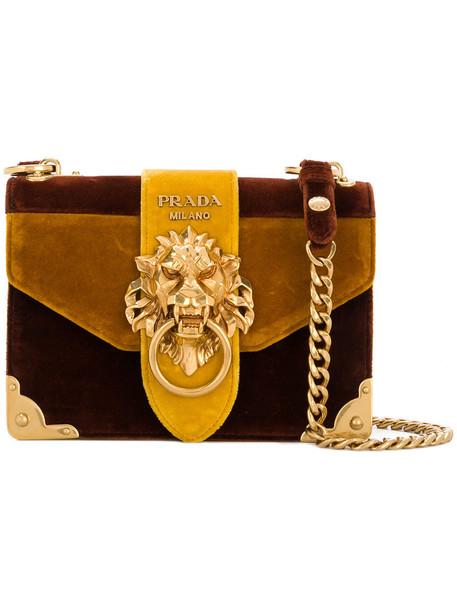 bafcd7c133ea Prada - Cahier lion-embellished shoulder bag - women - Velvet/Suede - One