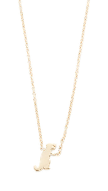 Ariel Gordon Jewelry The Menagerie T Rex Necklace - Gold