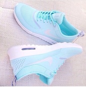 shoes,gloves,baby blue,nike,air max,new shoes,trainers,sportswear,sporty,tumblr,pretty,cute,bag,nike running shoes,nike sneakers,nikes,white,nike air max thea,blue trainers nike airmax thea's,donker blauw,shorts,nike running,blue,turquoise,healthy,run,running,fitness,nike free run,athletic,mint groen,sneakers,mint,nike air,light blue,nike shoes,tiffany blue nikes