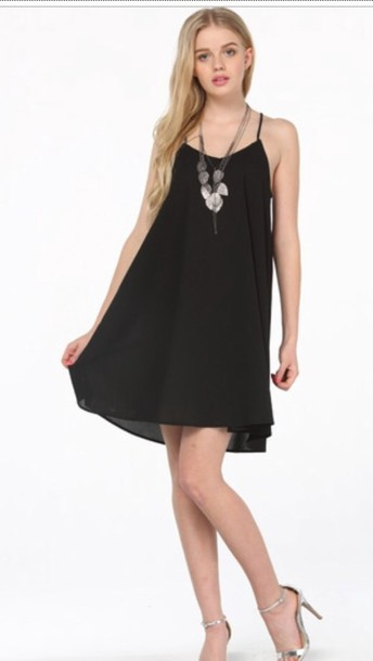 dress chiffon dress black dress style swing dress