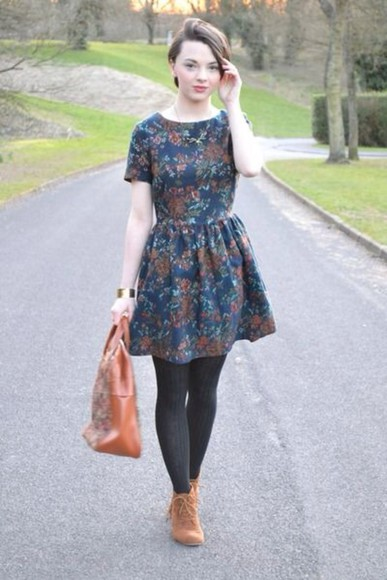 dress printed dress fall dress fashion