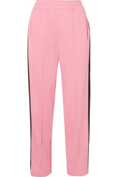 Ganni pants track pants pink