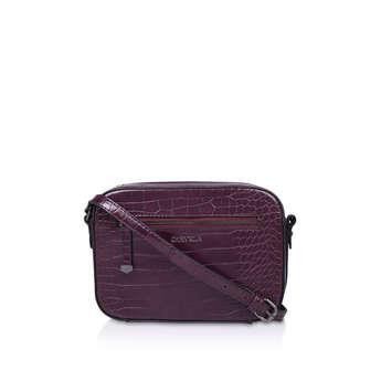 Carvela Daisy Cross Body - Wine Croc Cross Body Bag