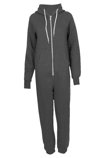 Ladies Madge all in onesie jumpsuit In Dark Grey | Pop Couture