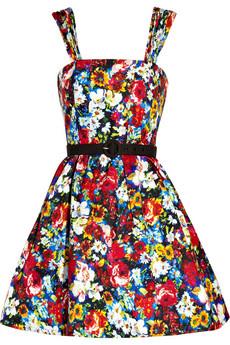 Print silk dress