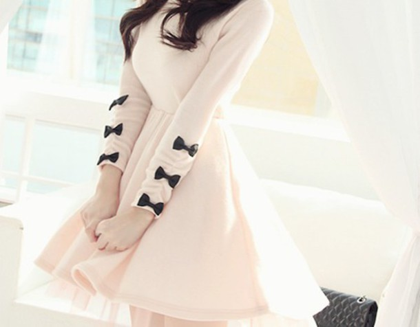 jumpsuit dress bow cream white little bows long selves dress