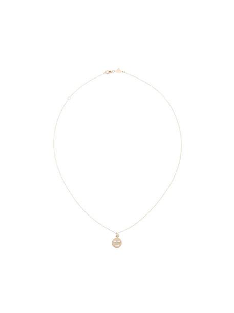 women nerd necklace gold grey metallic jewels