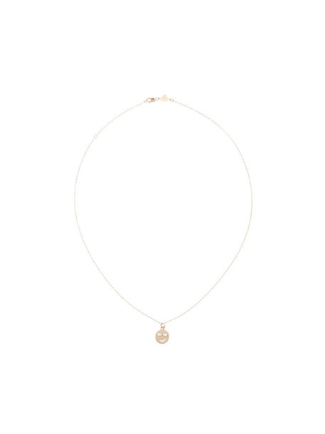 Alison Lou women nerd necklace gold grey metallic jewels