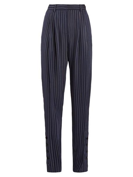 Altuzarra high navy pants