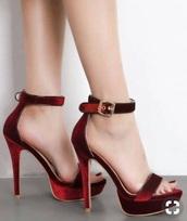 shoes,red,heels,pumps,sandals,platform sandals,platform shoes,platform heels,sexy,strappy heels,peep toe heels,open toes