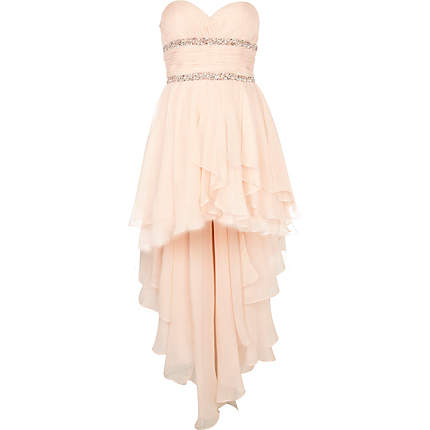 pink forever unique dip hem prom dress - branded dresses - dresses ...