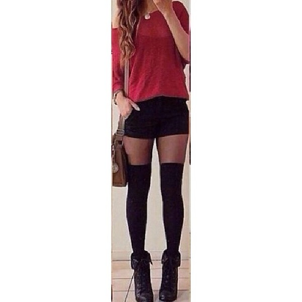 shoes combat boots stockings tights sweater shorts pants underwear dress little black dress black lace dress white black