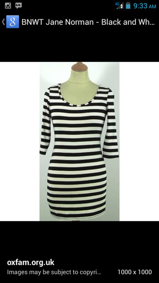 dress bodycon black and white striped stripes
