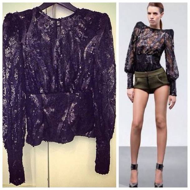 13d1d76944e66 blouse zhivago sheer blouse sheer black lace sequin bouse sequins black  sequins a sexy and stunning