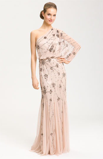 6f13d44a4c1 Adrianna Papell Beaded One Shoulder Gown