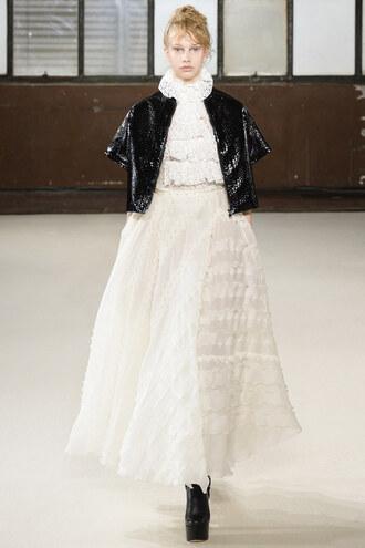 dress skirt blouse fashion week 2016 giamba runway milan fashion week 2016 jacket lace dress wedding dress