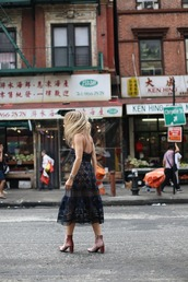 shoes,velvet boots,boots,pink boots,ankle boots,high heels boots,dress,lace dress,blue dress,midi dress,blogger