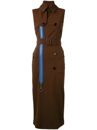 coat long women spandex silk brown