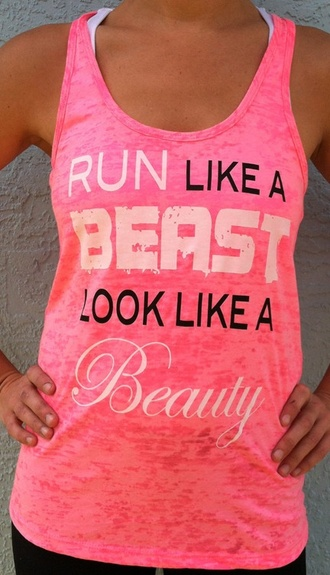 shirt quote on it pink tank top