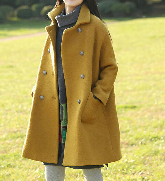 coat yellow overcoat