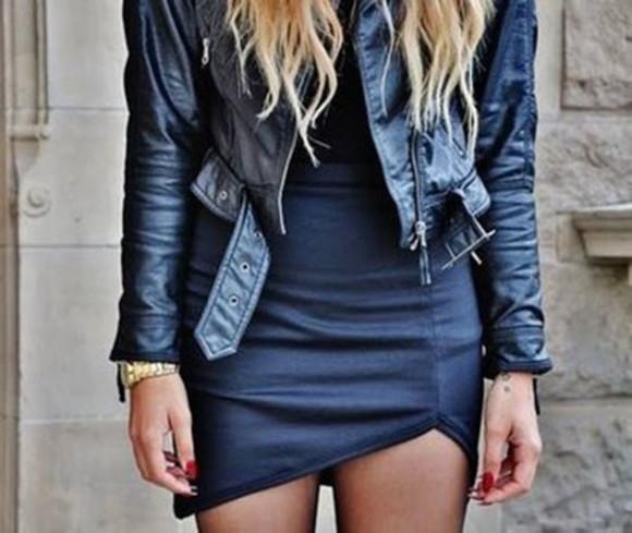 mini skirt leather leather skirt faux leather asymmetrical skirt