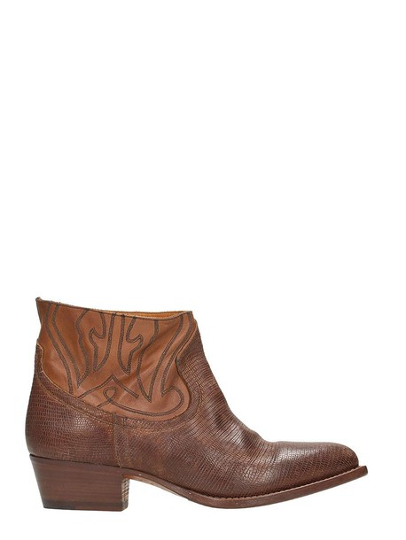 Buttero leather brown shoes