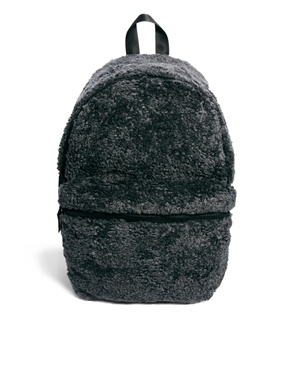 Monki | Monki Trine Furry Backpack at ASOS