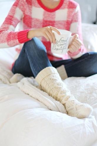 socks plaid flannel fashion cosy knitwear