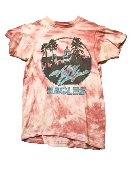 t-shirt hotel california eagle shirt t-shirt t-shirt dye pink washed out vintage