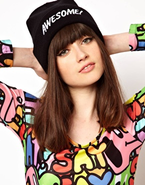 Lazy Oaf | Lazy Oaf Awesome Beanie Hat at ASOS