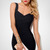 Black Sleeveless V Neck Backless Bandage Dress - Sheinside.com