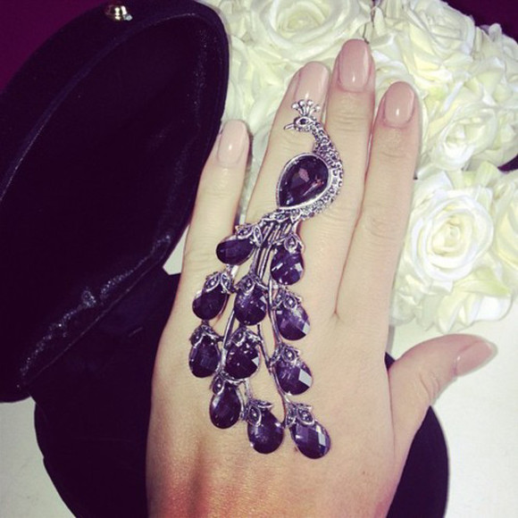 jewels purple bijoux ring