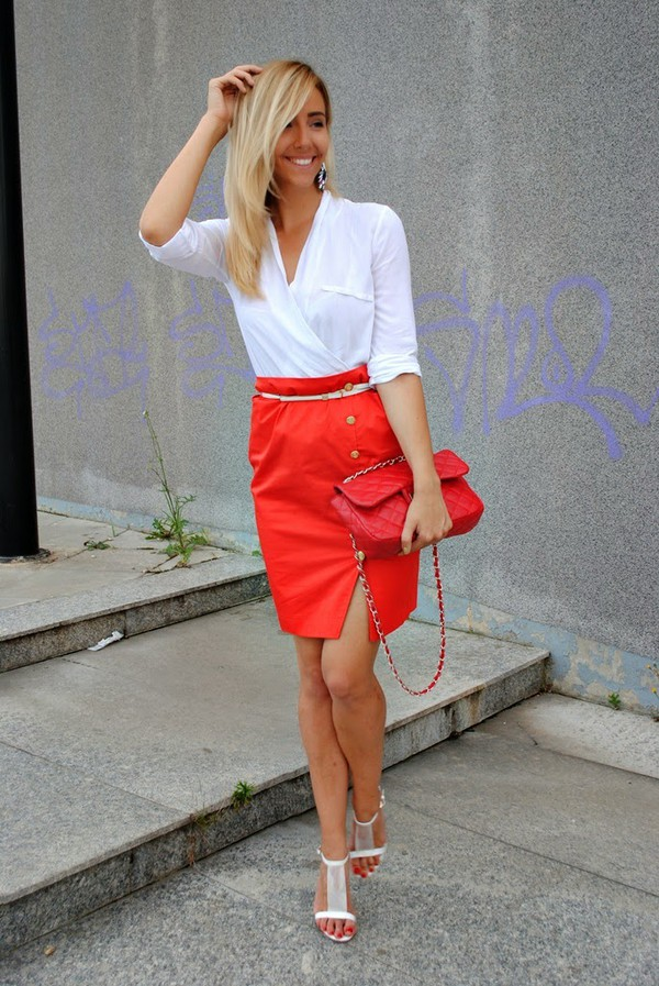 let's talk about fashion ! jewels blouse skirt shoes bag