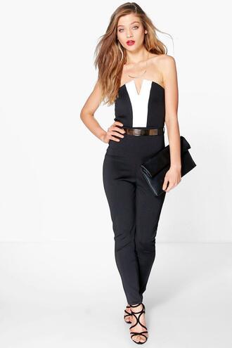 jumpsuit bandeau jumpsuit color block jumpsuit black jumpsuit black bandeau jumpsuit