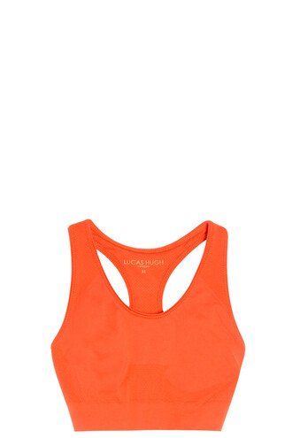 bra sports bra orange underwear