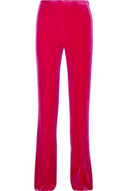 pants velvet pink