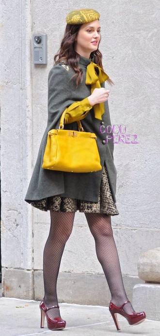 shoes gossip girl blair waldorf thickheels coat