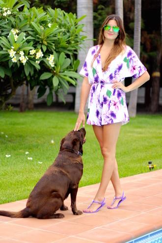 marilyn's closet blog blogger romper shoes sunglasses