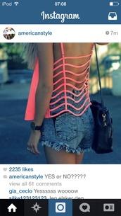 shirt,pink,open back,cute
