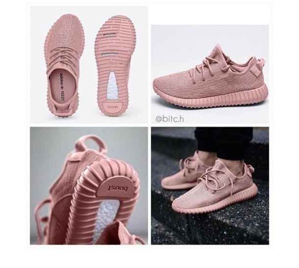 shoes yeezy pink kanye west clothes yeezyboost kanye west dusty pink pink  sneakers yeezus sneakers pastel