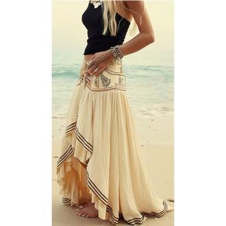 skirt hippie boho maxi skirt