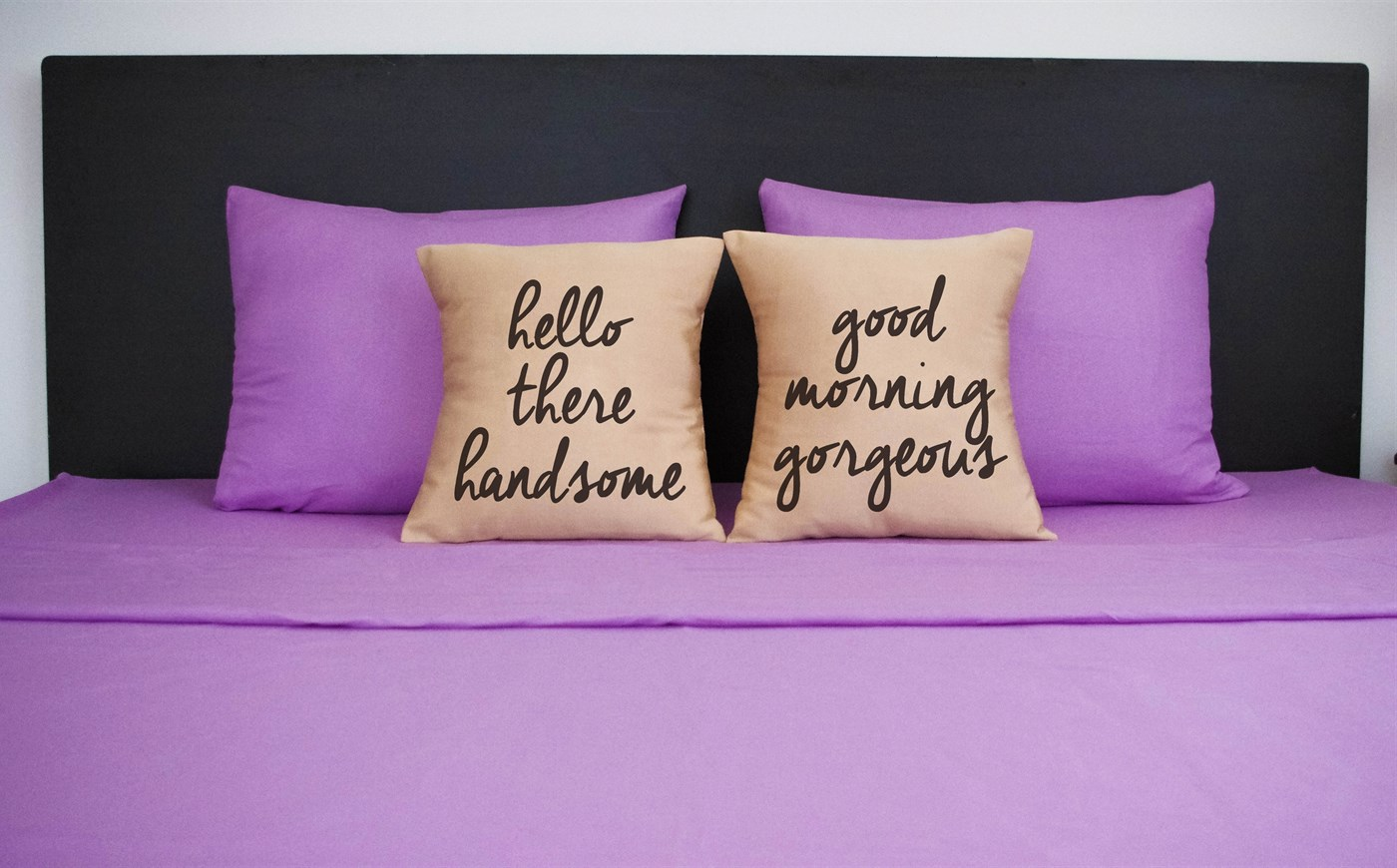 Hello there handsome, good morning gorgeous pillow cases - Set of 2!