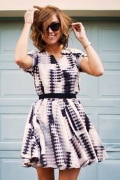 dress,printed dress,flirty,pattern,short dress