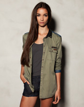 jacket,army green jacket