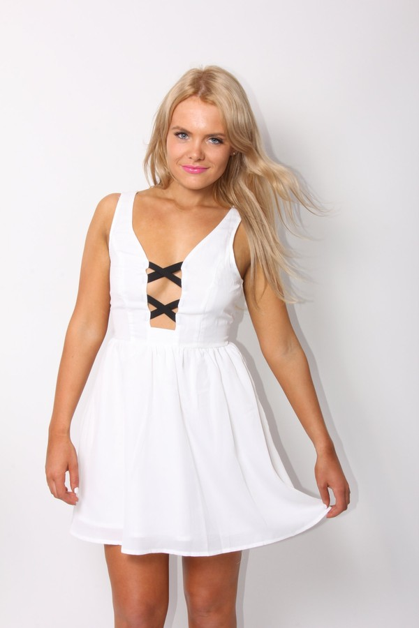 dress ustrendy dress ustrendy white dress mini dress criss cross summer dress
