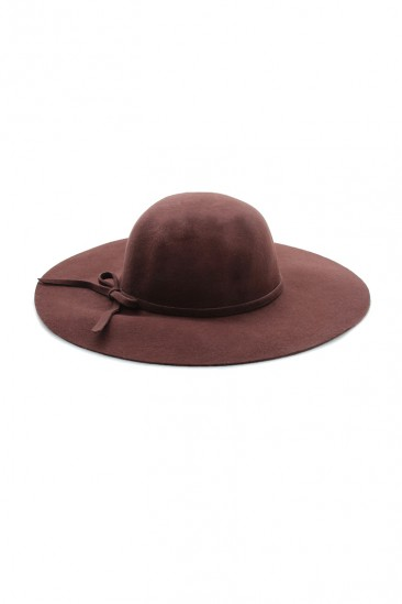 LoveMelrose.com From Harry & Molly | CROWN AKUBRA HAT - Dark Brown