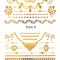 Boho style foil gold temporary tattoo sticker|disheefashion