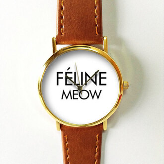 jewels watch handmade style fashion vintage etsy freeforme summer spring feline meow meow cats animal pet new gift ideas