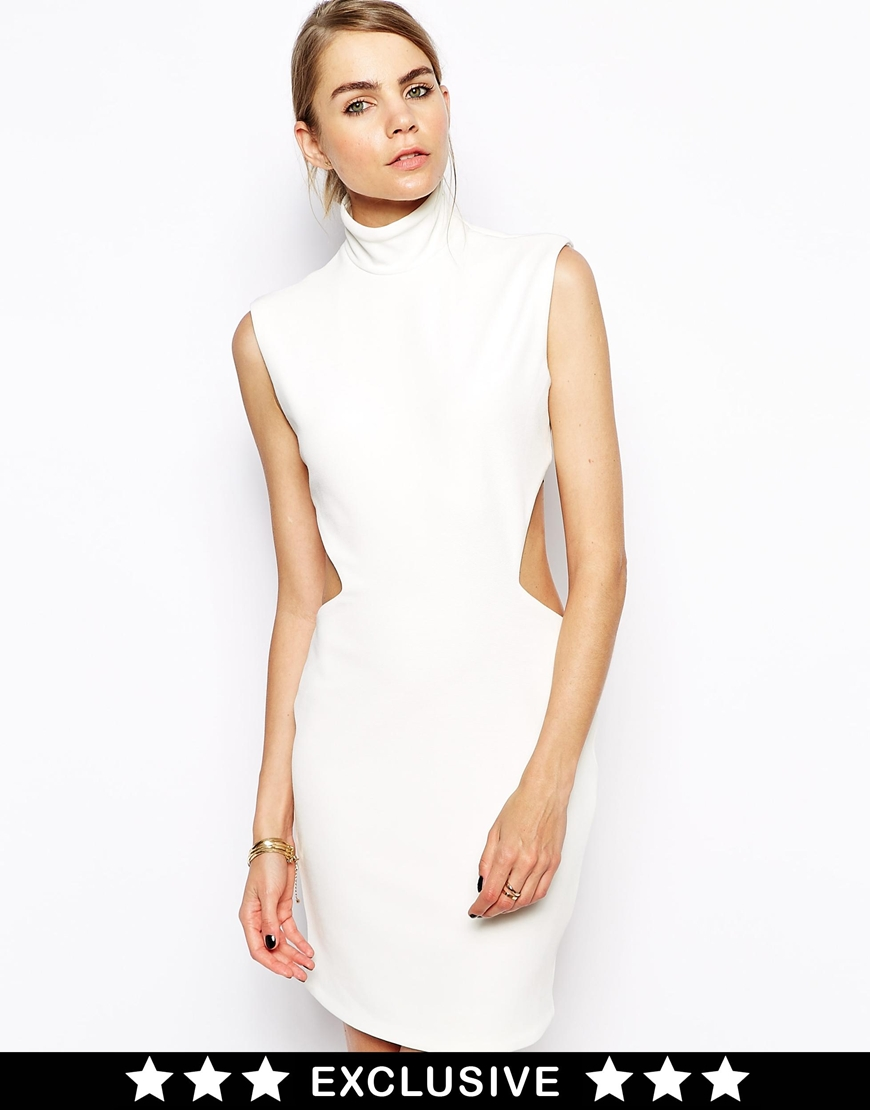 Solace London Stone Mini Dress With Cut Out Back at asos.com