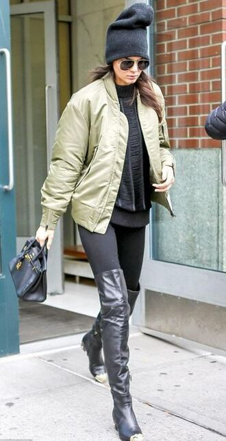 jacket bomber jacket kendall jenner boots fall outfits